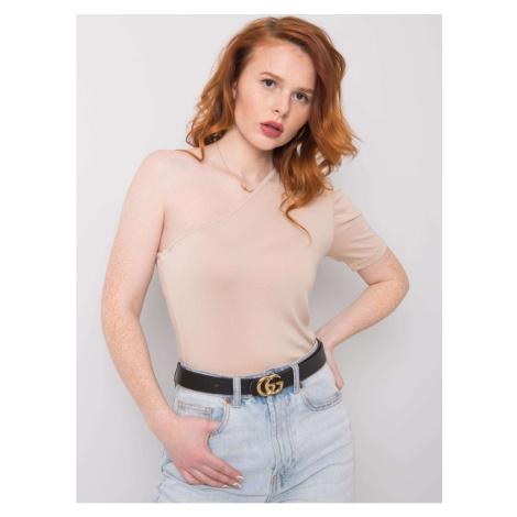 RUE PARIS Light beige blouse with one shoulder Fashionhunters