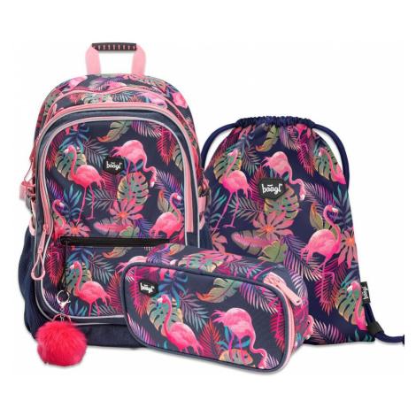 Baagl Školní set Flamingo
