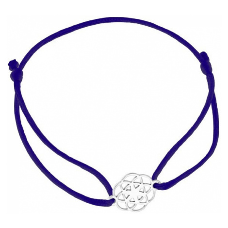 Praqia Šňůrkový modrý kabala náramek Mandala KA6203