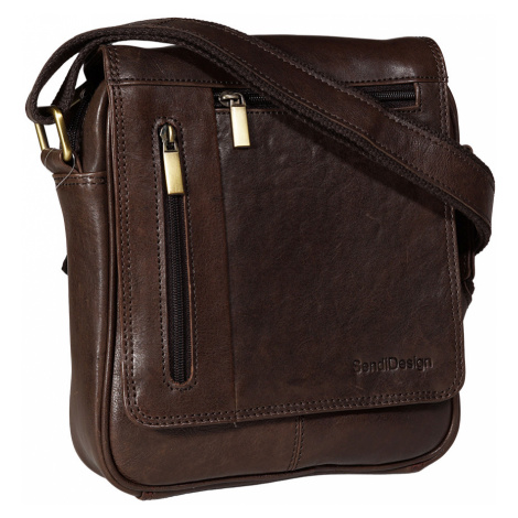 Kožená pánská taška SendiDesign M-702 hnědá Sendi Design