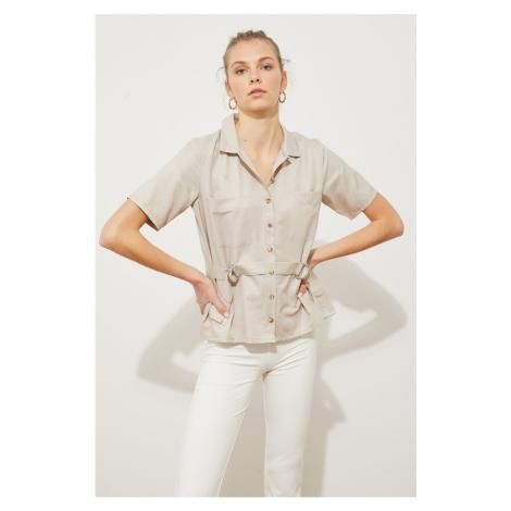 Trendyol Stone Tying Detail Shirt