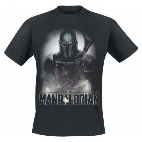 Star Wars The Mandalorian - Fighter Tričko černá