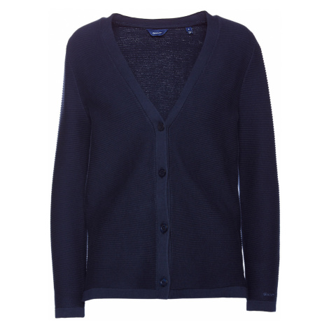 SVETR GANT D1. TEXTURED COTTON CARDIGAN