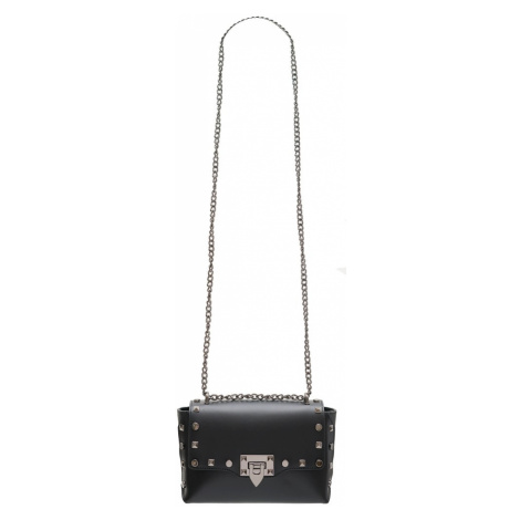 Dámská kožená crossbody kabelky s cvoky - černá Glamorous