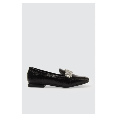 Trendyol Black Rugan Stone Women's Classic Shoes