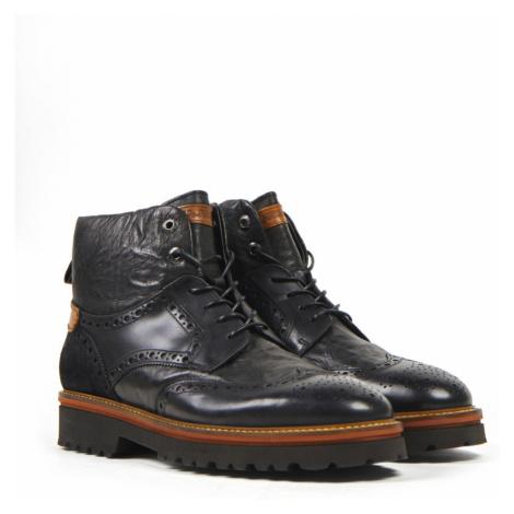 Kotníková Obuv La Martina Man Boots Canyon Calf Leather - Černá