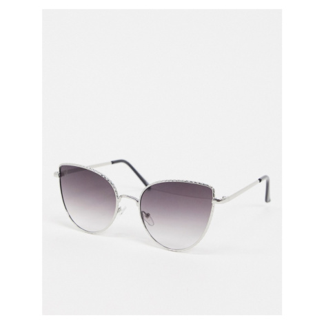 Jeepers Peepers cat eye sunglasses in silver