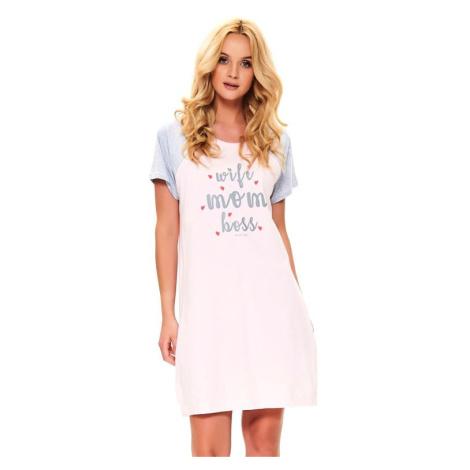Mateřská noční košile Love mom růžová
