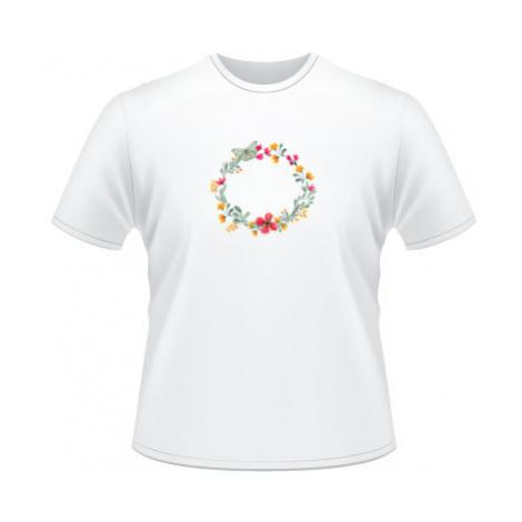Pánské tričko na tělo Květinový rámeček