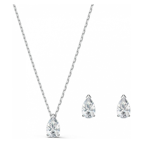 Swarovski Slušivá sada šperků s třpytivými krystaly ATTRACT