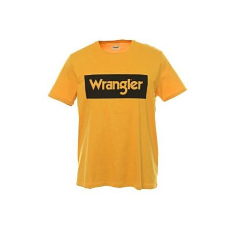 Triko Wrangler Logo Tee Mineral Yellow pánské