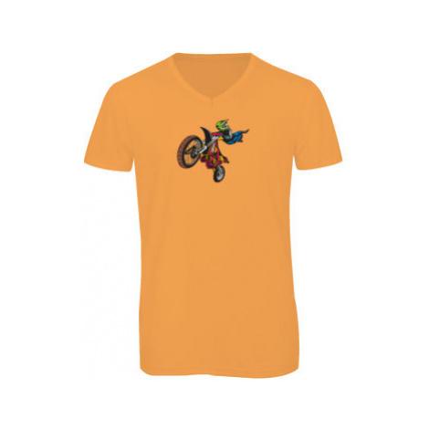 Pánské triko s výstřihem do V Motorkář