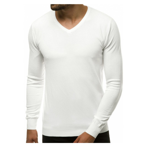 Bílý jednoduchý svetr TMK/YY03/2