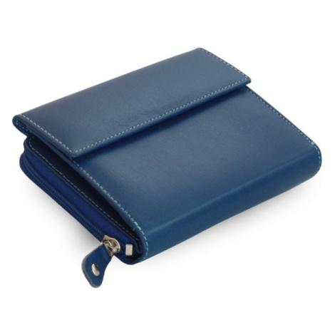 Modrá dámská kožená peněženka Sawyer Arwel