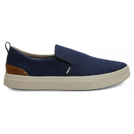 Navy Heritage Canvas TRVL Lite Slip-On Toms