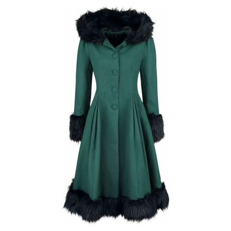 Hell Bunny Kabát Elvira Dámský kabát petrolejová