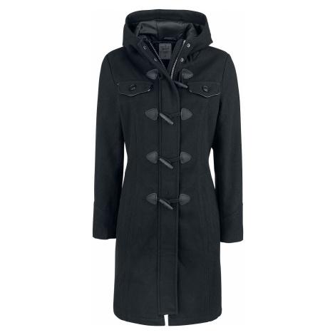 Brandit Long Dufflecoat Dívcí kabát černá