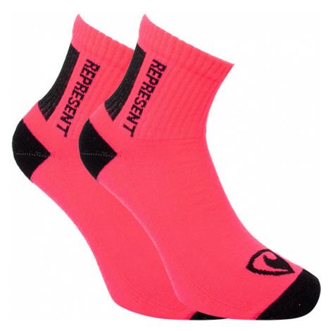 Ponožky Represent long simply logo pink (R6A-SOC-0313) L