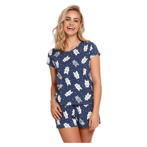 Dámské pyžamo Lily tmavě modré s medvědy