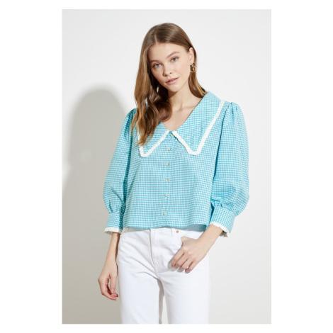Trendyol Mint Collar Detail Shirt
