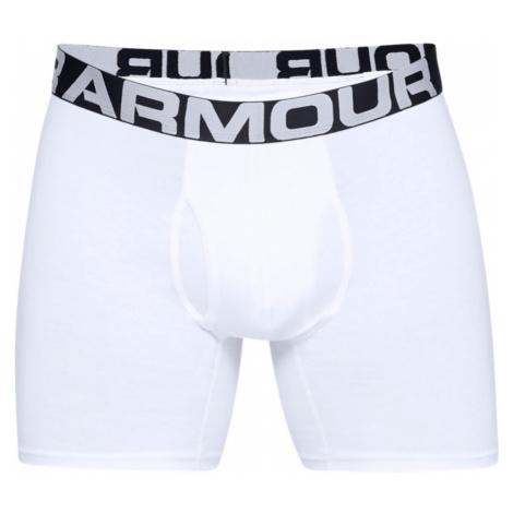 """Pánské boxerky Under Armour Charged Cotton 6"""" 3 Pack bílé"""