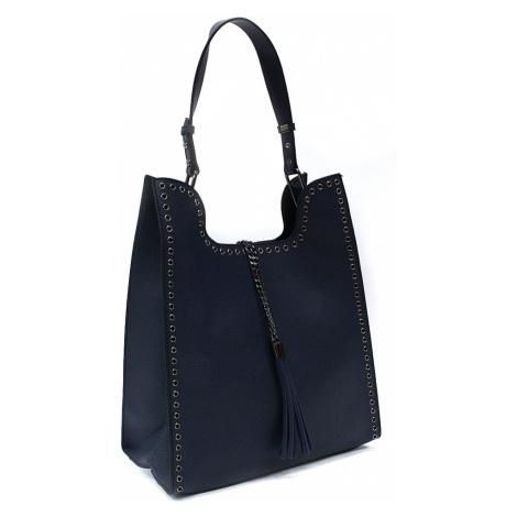 Tmavě modrý dámský kabelkový set 2v1 Karoline Mahel