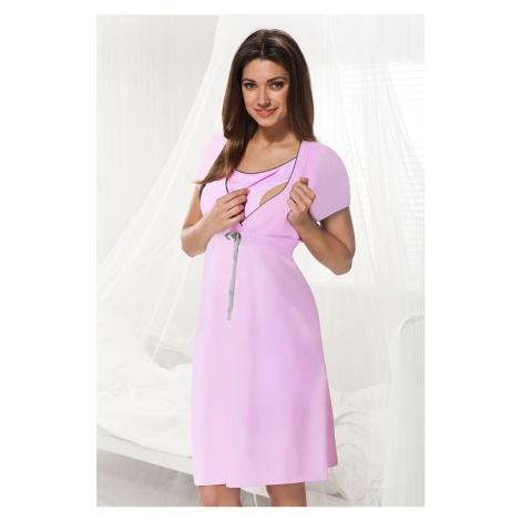 Mateřská, kojicí košilka Dorota růžová