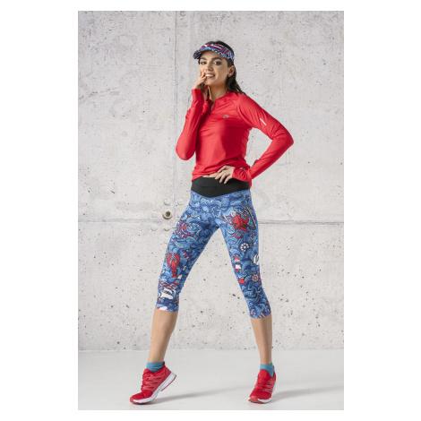 Nessi Sportswear 3/4 Legíny s multifunkčním pasem OSTP-13F1 Blue Ocean