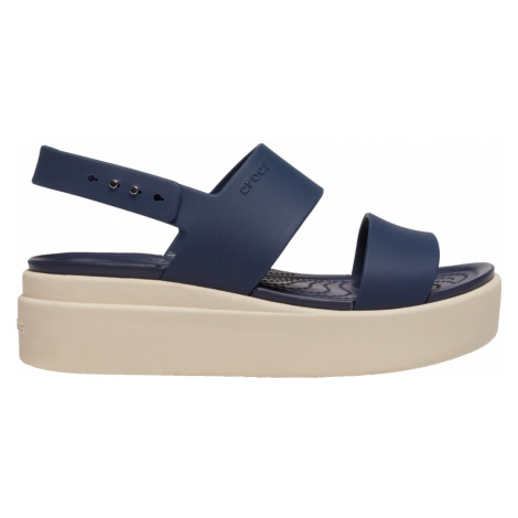 Crocs Crocs Brooklyn Low Wedge W Navy/Stucco W9