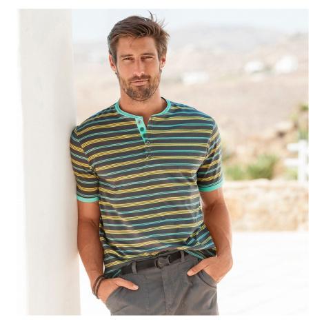 Blancheporte Pruhované tričko s tuniským výstřihem ocelová šedá
