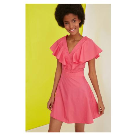 Trendyol Pink Flywheel Dress