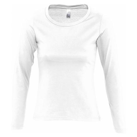 SOĽS Dámské triko s dlouhým rukávem MAJESTIC 11425102 Bílá SOL'S