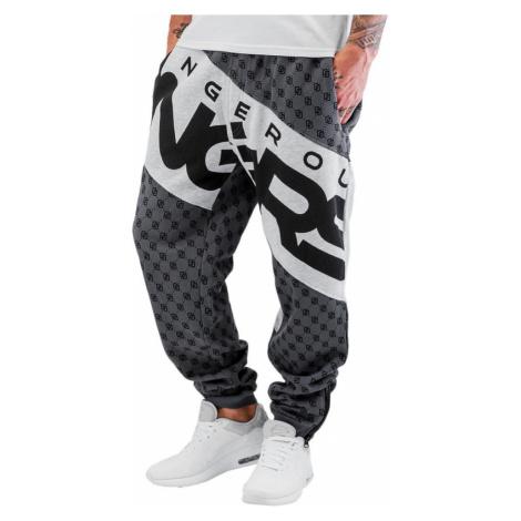 Dangerous DNGRS kalhoty pánské Toco Sweatpants Asphalt/Grey Melange