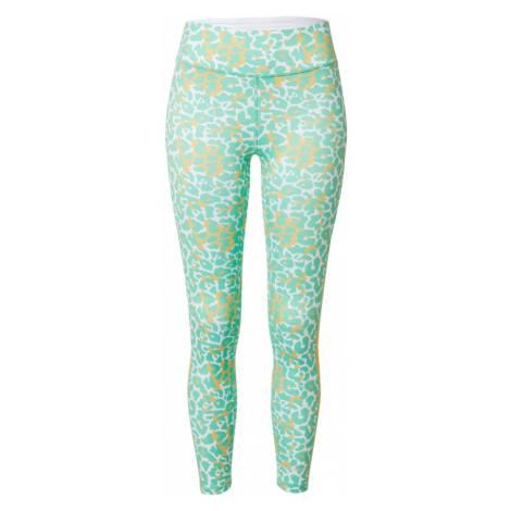 DELICATELOVE Sportovní kalhoty 'Nadi' bílá / zelená / žlutá