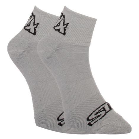 Ponožky Styx kotníkové šedé s černým logem (HK1062) L