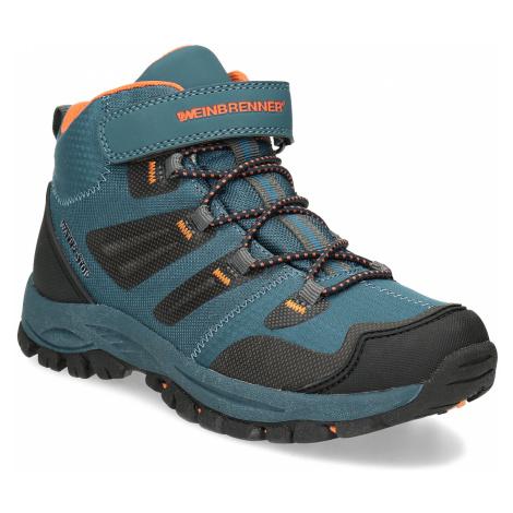 Modrá dětská kotníčková Outdoor obuv Weinbrenner