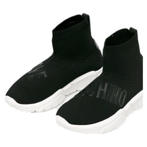 Černé kotníkové boty - LOVE MOSCHINO