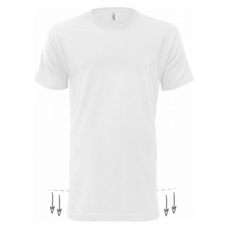 Tričko pánské AF NJ Prodloužené - Bílé