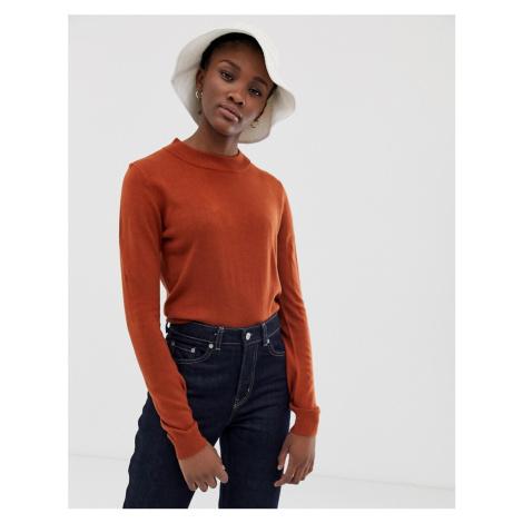 ASOS DESIGN fine knit crop jumper - Red