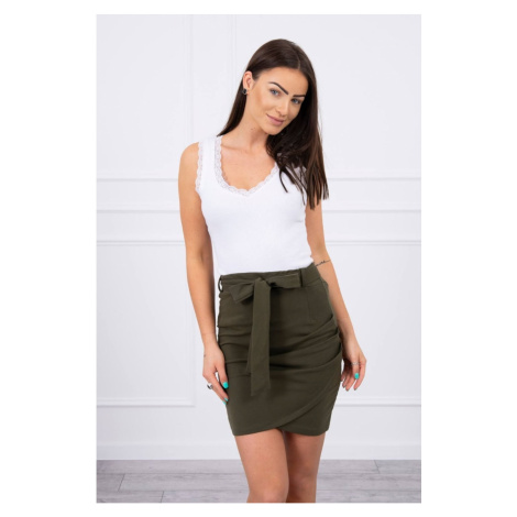 Wrap skirt tied at the waist khaki Kesi