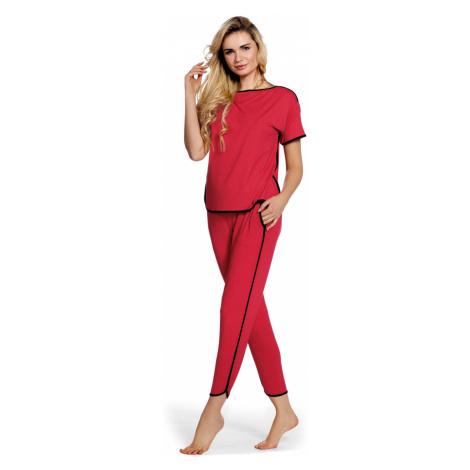 Dámské pyžamo JUDITH krátké rukávy, dlouhé kalhoty 400 De Lafense