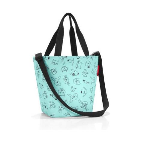 Dětská taška přes rameno Reisenthel Shopper XS kids Cats and dogs mint