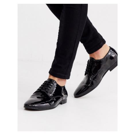 H By Hudson bolton patent derby shoes-Black