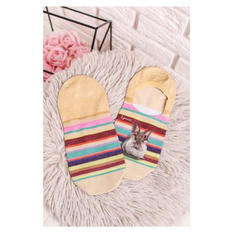 Dámské vícebarevné vzorované kotníkové ponožky Sunday Footies XPOOOS