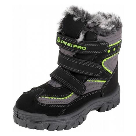 ALPINE PRO TIMBER černá - Dětská zimní obuv