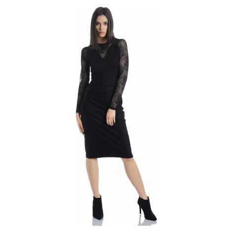 Společenské černé krajkové šaty Vive Maria Falling in Love
