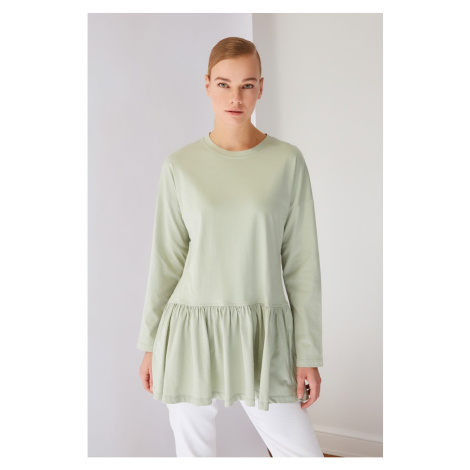 Trendyol Green Frilly Knitted Tunic