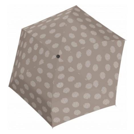 Šedobéžový mechanický skládací dámský deštník se vzorem Brynn Doppler