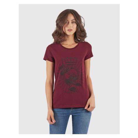 Tričko La Martina Woman T-Shirt Stretch Co Jerse - Červená