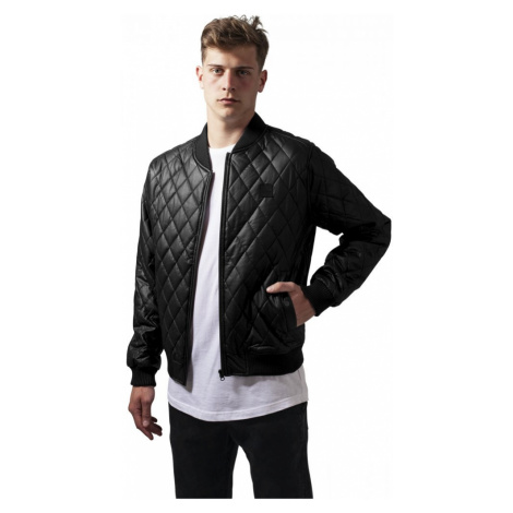 Bunda Urban Classics Diamond Quilt Leather Imitation Jacket - black
